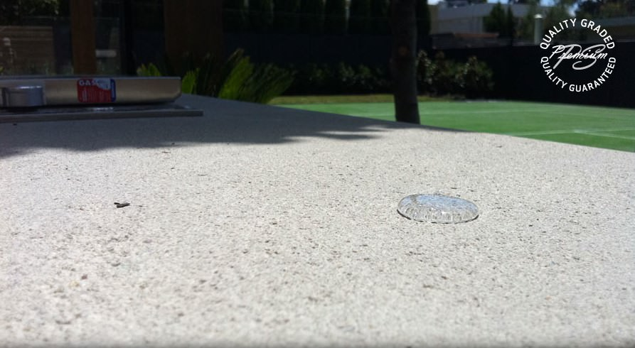 Water Beading on Devon BBQ Top Surface Prestige (2)